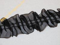Рюш чёрный изо органзы (шир.3,7 см)