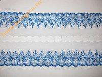 """Шитье хлопковое 0,5-5,5см(1 метр) """"ёлочка"""" бело-синее"""