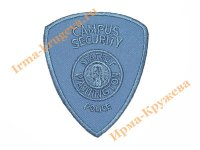 Аппликация №0 CAMPUS SECURITY POLICE голубая 6х7 см