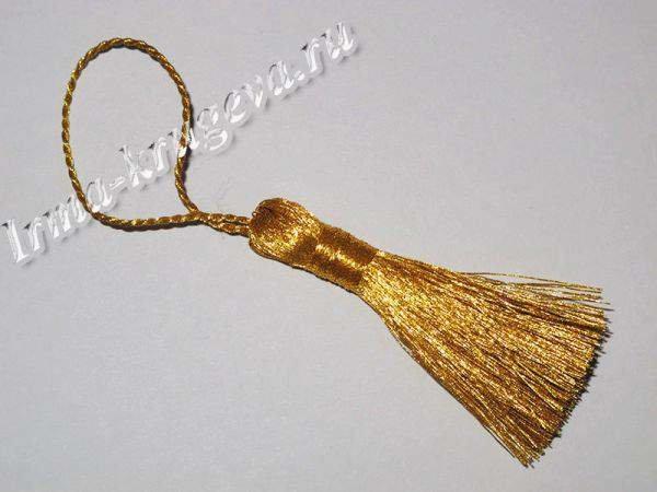 Кисть золотая 6 см